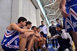 Equipo junior del CD Huelva Baloncesto.