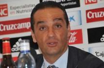 José Luis Oltra, técnico del Recreativo de Huelva, en sala de prensa.