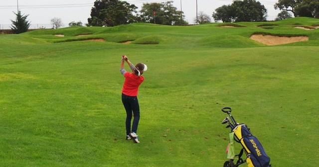 Laura López, golfista ayamontina.