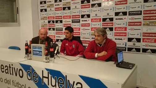 Juan Manuel Pavón, en su presentación como nuevo entrenador del Recreativo de Huelva.