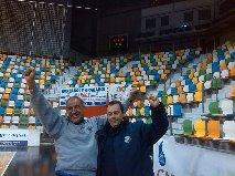 Fernando Castelló, a la derecha, técnico del PAN Moguer.