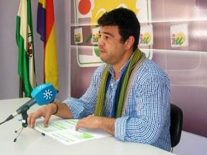 Javier Valderas, portavoz IU en Lepe