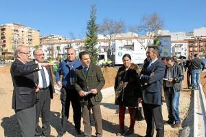 Visita obras nuevo parque Isla Chica antiguo estadio