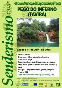 Cartel de Ruta de Senderismo en Tavira.