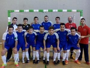 Selección de fútbol sala de la Universidad de Huelva.