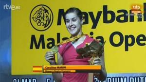 Carolina Marín, ganadora del Open de Malasia.