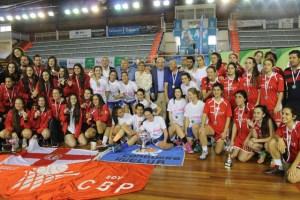 Equipos finalistas del Campeonato de Andalucía junior de baloncesto femenino.