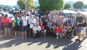 Peñistas del Recreativo de Huelva.