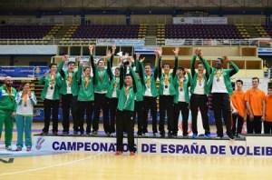Campeonato de España infantil de voleibol.