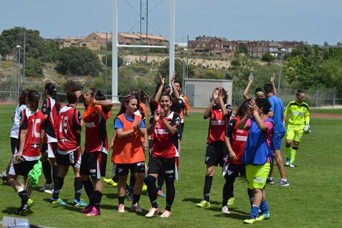 Jugadoras del Cajasol Sporting celebrando el pase en la Copa de la Reina.