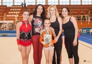 Clara Ropero y Marta Fernández, gimnastas del Rítmica Huelva.