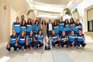 Recepción en la Diputación Provincial al Fundación Cajasol Sporting, campeón de la Copa de la Reina.