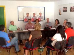 Sebastian Rivero con colectivos de Aljaraque