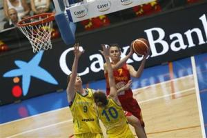 España-Australia en el Torneo Internacional de Huelva de baloncesto femenino.