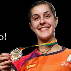 Carolina Marín, número 1 del mundo en bádminton.