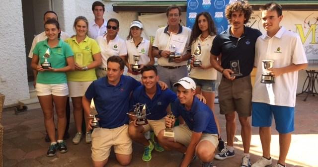 Ganadores del Torneo Provincial de golf.