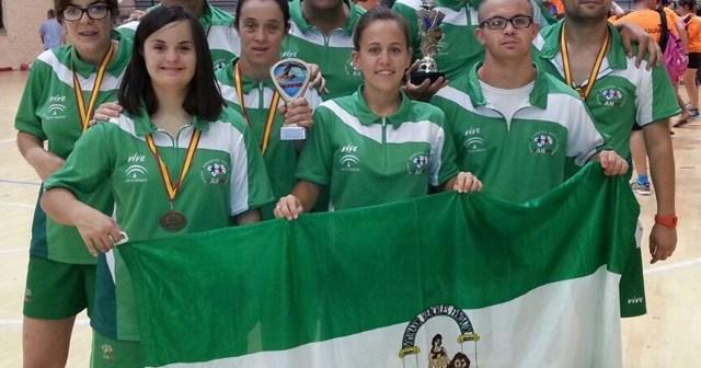 Deportistas del CODA con la Selección Andaluza.