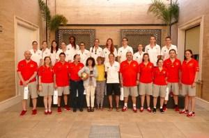 Recepción en la Diputación de Huelva a la Selección Española de Baloncesto femenino.