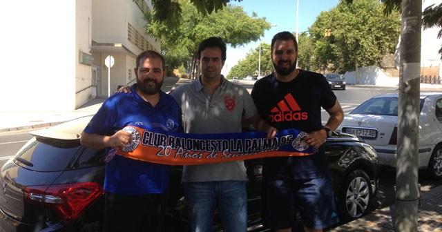 Técnicos del CB La Palma,  Justo López,  Diego Gago y Juanmi.