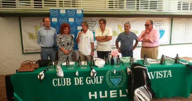 Entrega de trofeos del Torneo de golf Banco de Alimentos de Huelva.
