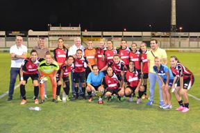 Jugadoras y cuerpo técnico del Fundación Cajasol Sporting.
