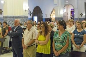 Las autoridades presentes en la Misa dedicada a los enfermos de Alzheimer