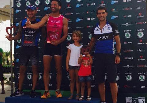 Juan González en el Triatlón de Málaga.