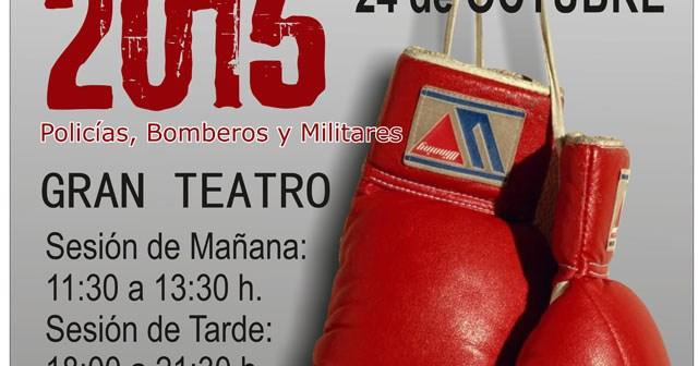 Cartel de la velada de boxeo.