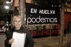 (FOTO) NdP_Podemos Huelva duplica recogida avales