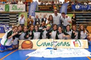 Selección infantil de baloncesto femenina de Huelva.