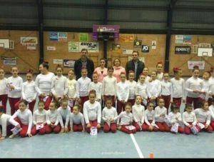 Escuela del Club Gimnasia Rítmica Onuba.