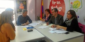 IU-UP Huelva con sindicalistas Educacion