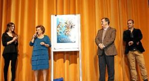 La Alcaldesa y el Primer Teniente de Alcalde, dirigieron unas palabras al publico tras la presentacion del Cartel