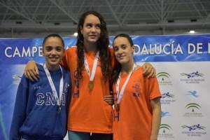 Nadadoras del Club Natación Huelva.