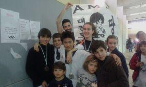 Taekwondocas del Club Amk-Chitae de Lepe.