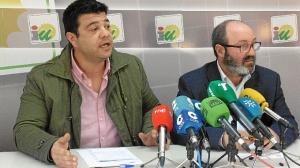 Javier Valderas y Pedro Jimenez en RP IU 26 enero