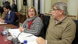 Monica Rossi y Juan Manuel Arazola, en el pleno.