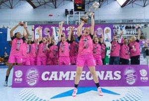 Jugadoras del CB Conquero, campeonas de la Copa de la Reina.
