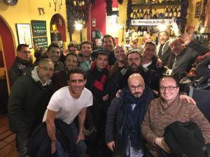 Post-partgido del encuentro Actores-Amigos de Huelva.