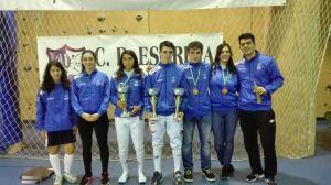 Espadistas del Club Esgrima Huelva.