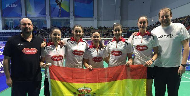 Selección Española de bádminton.