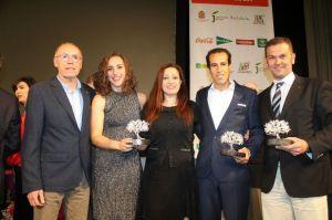 Sporting de Huelva, Emilio Martín y CD Sordos, premiados por la FPDA. (Mauricio Hidalgo)
