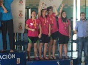 Nadadores del CODA en el Campeonato de España.
