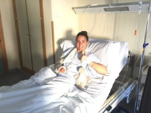 Sara Serrat, portera del Fundación Cajasol Sporting, operada del codo derecho.