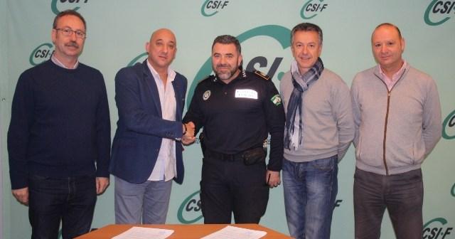 Comité de Huelva 2016 con el sindicato CSIF.