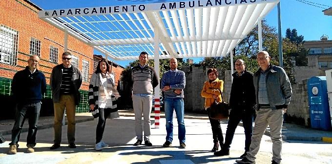 Nuevo aparcamiento de ambulancias del centro de salud Valverde