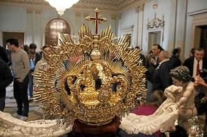 Nuevos varales y corona para la Virgen del Refugio (1)
