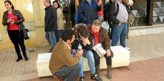 Imagen de la protesta realizada por los padres.
