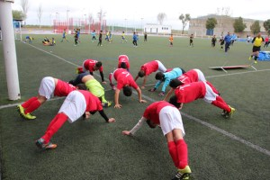 Torneo de veteranos de fútbol 7 en San Juan del Puerto.