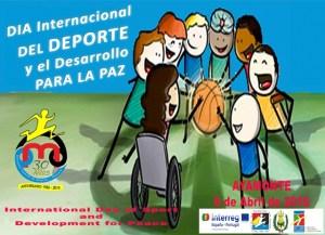 Cartel del Día Mundial del Deporte en Ayamonte.